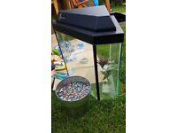 Clear Seal 55 litre corner Aquarium with filter, pump, net and other accessories