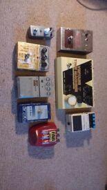 Job lot guitar pedals ehx boss Moore did danelectro dd3 vintage effect big muff reverb fuzz delay