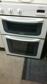 Hotpoint double oven in white
