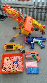 Nerf Guns - Collection Of 4 Guns & Lots Of Bullets all in Good Working Order