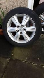 "Lexus Mazda 16 "" alloys and tyres nearly New"