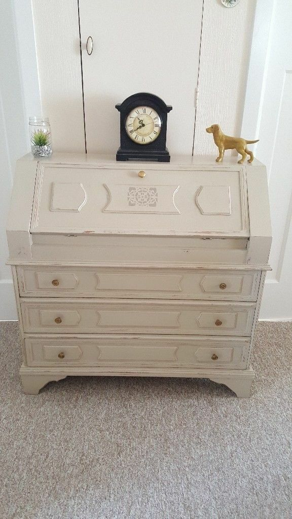 Shabby Chic Writing Desk Bureau Finished In Annie Sloan Chalk Paint