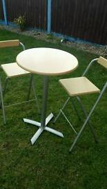 Bistro table and 2 x chairs
