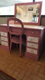 Dressing Table mirror and chair
