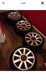 """5x100 5x112 Audi TT 18"""" Reps alloy wheels alloys"""