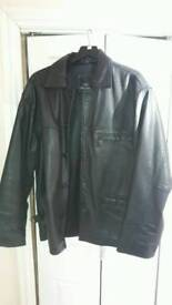Mens xl matinee real leather jacket