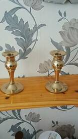 Beautiful antique candle sticks