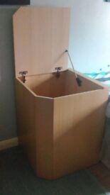 Corner bedroom storge unit or large toy box