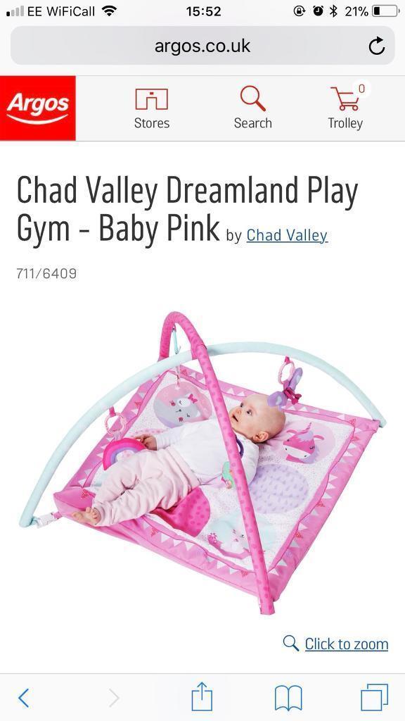 Pink play gym