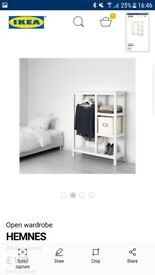 Brand new open wardrobe IKEA