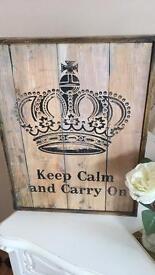 Wooden KEEP CALM sign