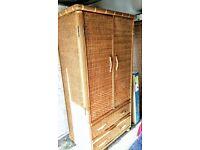 Rattan/bamboo Wardrobes, three avaliable !