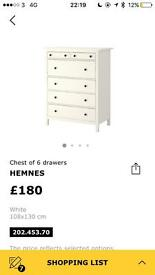Perfect condition chest of drawers!
