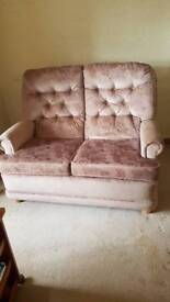 2 seater old fashioned solid settee