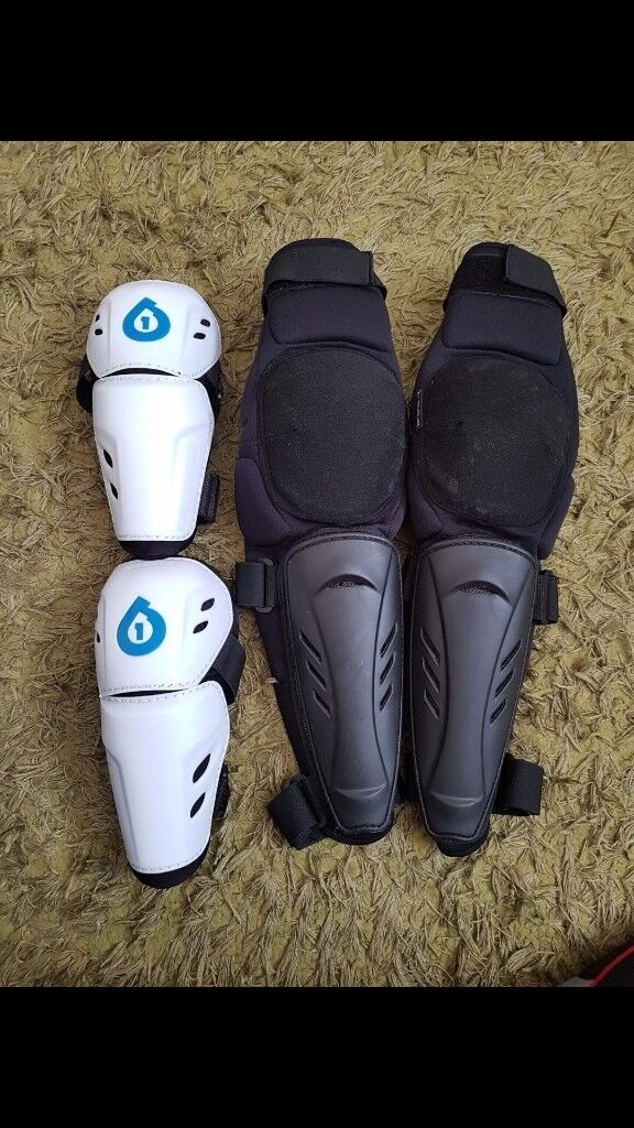Six Six One elbow pads and Brand X knee and shin pads all fully adjustable.