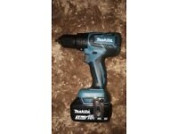 New Unused Makita 18v Brushless drill and new 3 Ah battery. No Charger or case.