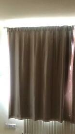 Marks & Spencer oatmeal lined pencil pleat curtains