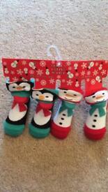Baby Christmas socks - brand new!