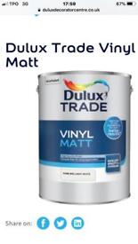 Dulux Trade Vinyl Matt 5 Litres only £15 each
