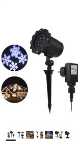 Christmas Decoration Projector Lights Outdoor Projector Waterproof Moving Flurry Snowflake