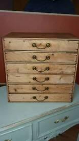 Vintage 6 drawer wooden cabinet