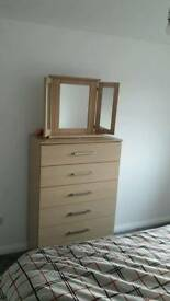 6 chest drawers with mirror ** £60 free delivery**