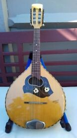 Decorative Rossetti Mandolin, Playable,but selling as ornament.With Original Soft Case