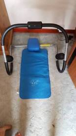 Divina Abdominal roller with mat and computer