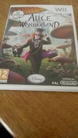 Wii alice in wonderland