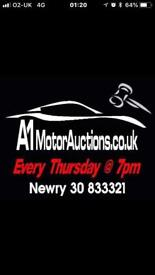 A1 motor auctions Newry. Thursdays at 7pm
