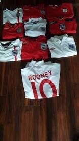 Joblot of England shirts