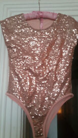Pink sequinned body - never worn