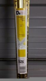 Carpet to carpet trim - metal gold 1.8 m: Brand new and unopened
