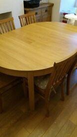 IKEA BJURSTA Oak Veneer Dining Table