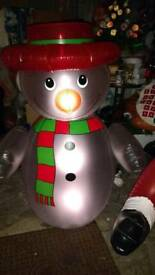 Snowman 4 ft inflatable