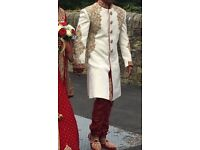 Mens asian bespoke wedding sherwani