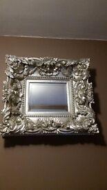 Laura Ashley silver baroque style mirror