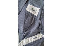 Lacoste Striped Short Sleeve Shirt Mens Blue Grey