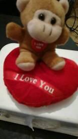 Love heart teddy