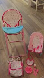 Dolls high chair set