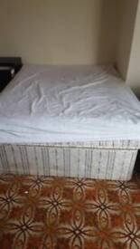 Double bed for sale with clean mattress