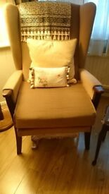 2 Matching High backed Arm Chairs £20 for the pair in great condition, very comfortable.