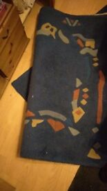 Free thick blue rug, BS7