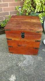 Rustic wooden storage box