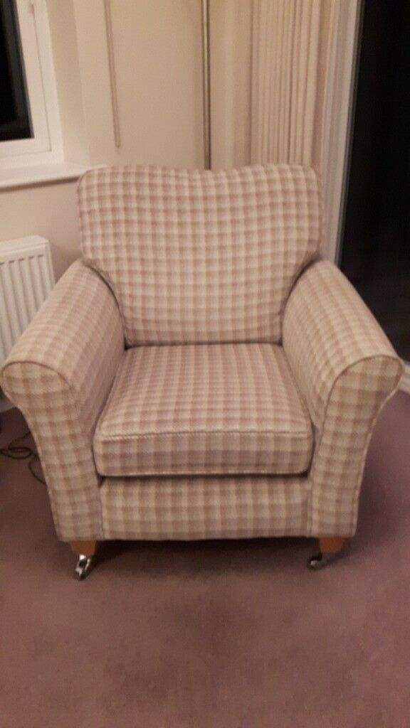 Accent Chairs Sold In Pairs.Alstons Accent Chairs Pair In Checked Fabric 185 Ono In Dunmow Essex Gumtree