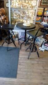 Bar pub man cave stools industrial metal