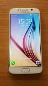 Samsung galaxy s6 white unlocked mint condition