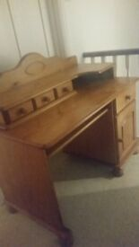 Sturdy pine desk for sale