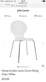 John Lewis white dining chairs modern white chairs stackable chairs