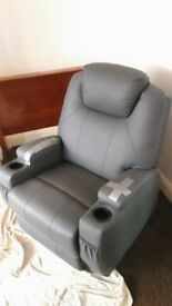 Manual Recliner Armchair with heat and massage